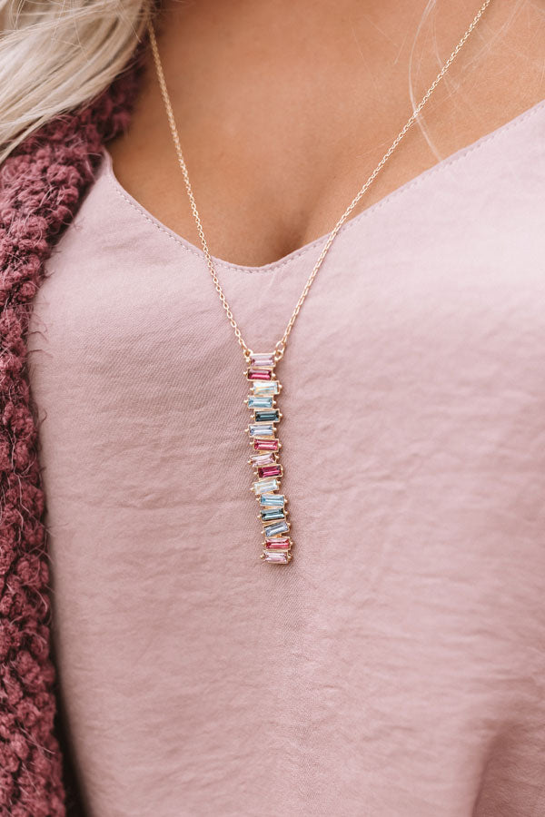 Eyes On You Necklace In Fuchsia