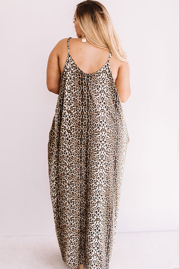 Chic City Style Leopard Maxi In Brown