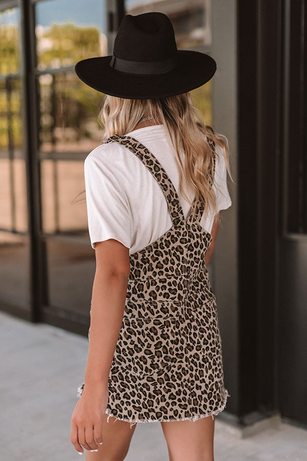 Editor's Pick Leopard Overall Dress