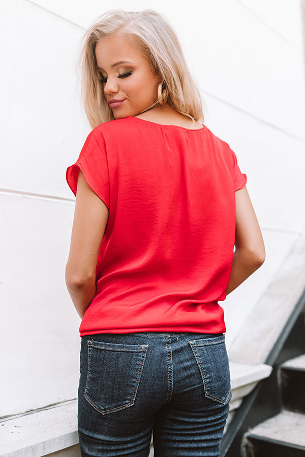 Villa Vacation Top In Red