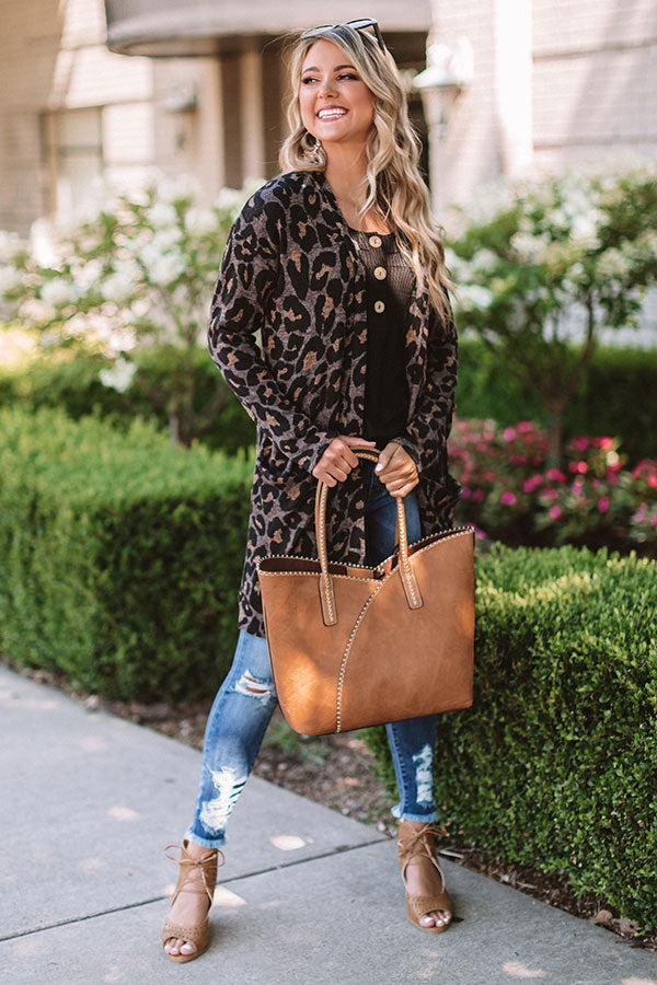 On The Go Leopard Cardigan