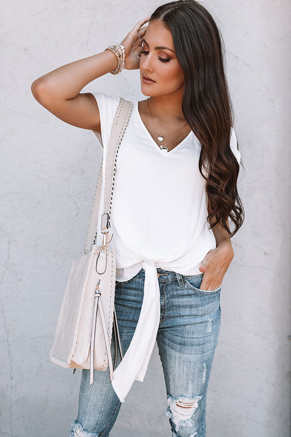 Villa Vacation Top In White