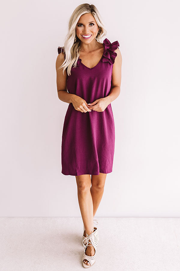 Frolic In France Shift Dress In Windsor Wine