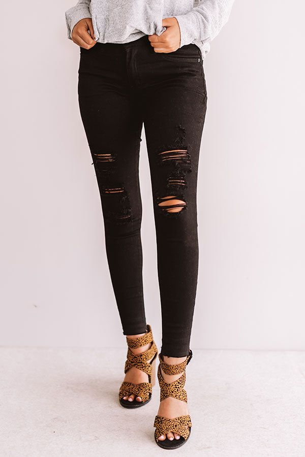 The Mitchell Midrise Distressed Ankle Skinny