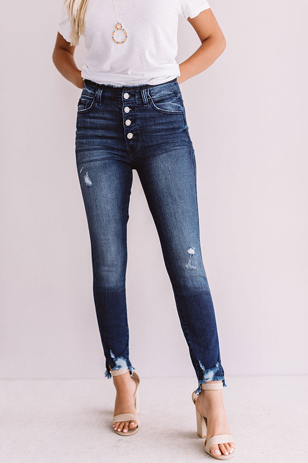 The Cadence High Waist Distressed Skinny