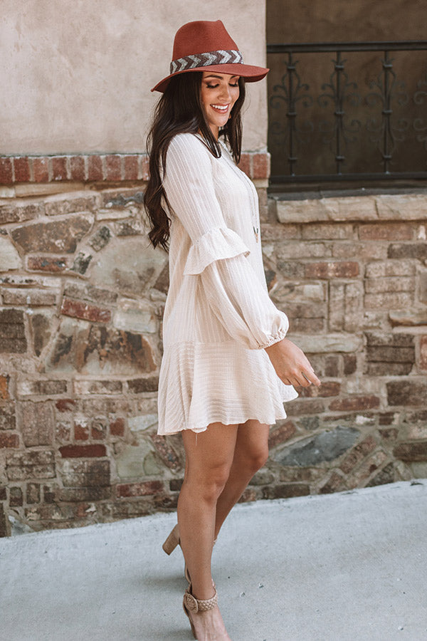 Colorado Casual Shift Dress In Cream