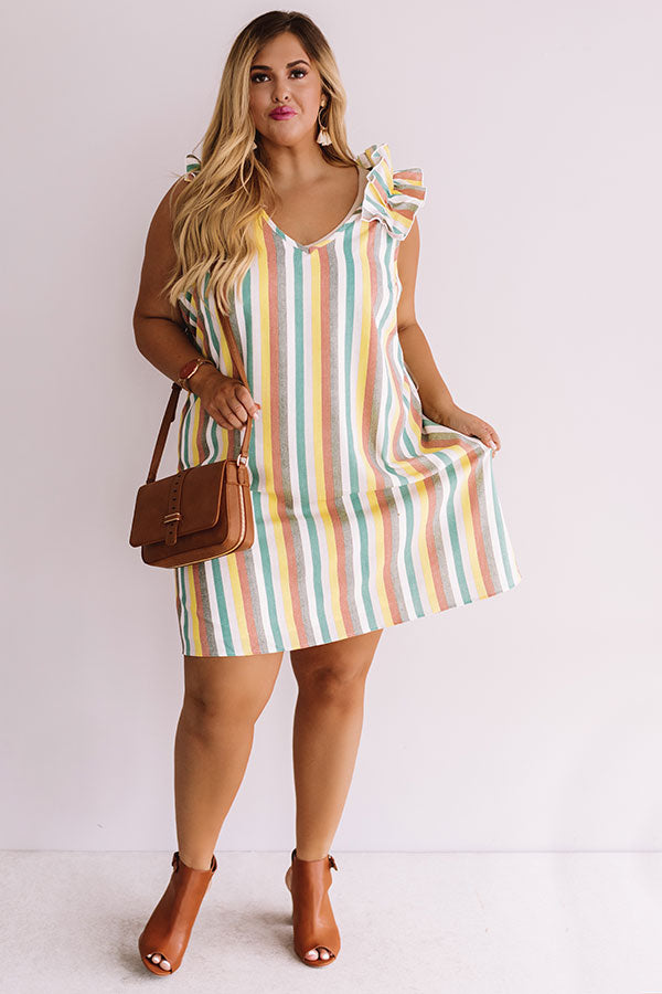 Tanlines In Tahiti Stripe Shift Dress