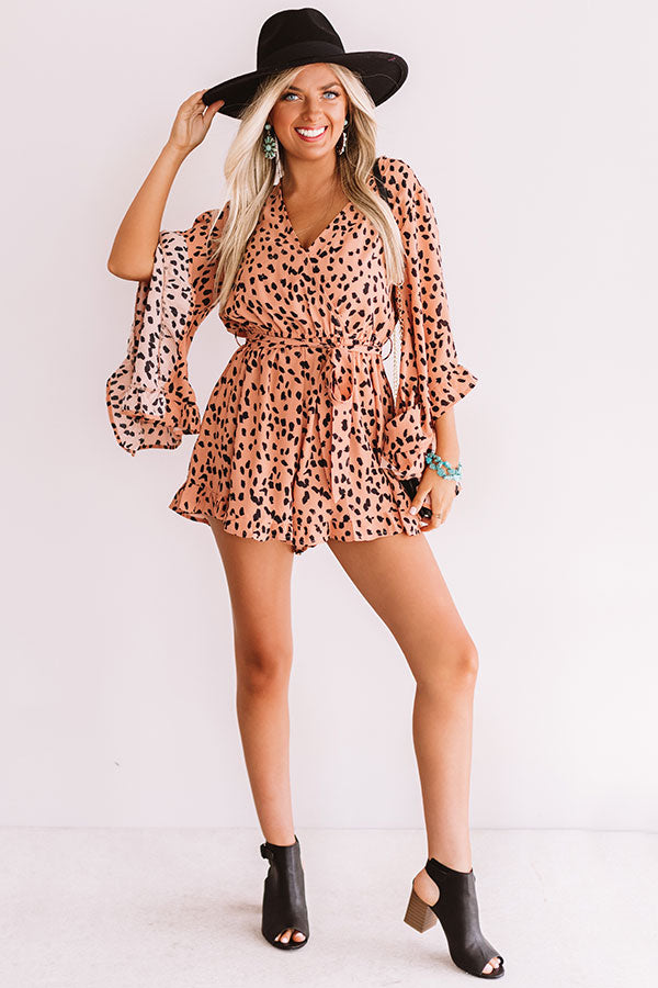 Gorgeous On The Go Leopard Romper
