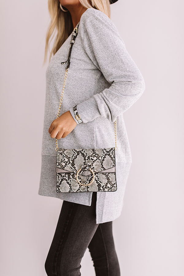 Express Yourself Faux Leather Purse in Snake Print