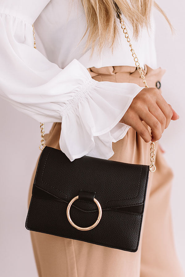Express Yourself Faux Leather Purse in Black