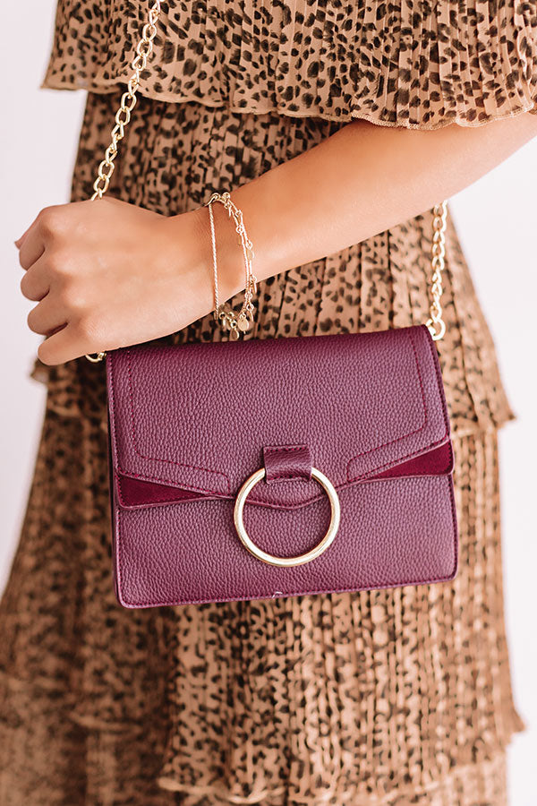 Express Yourself Faux Leather Purse in Windsor Wine