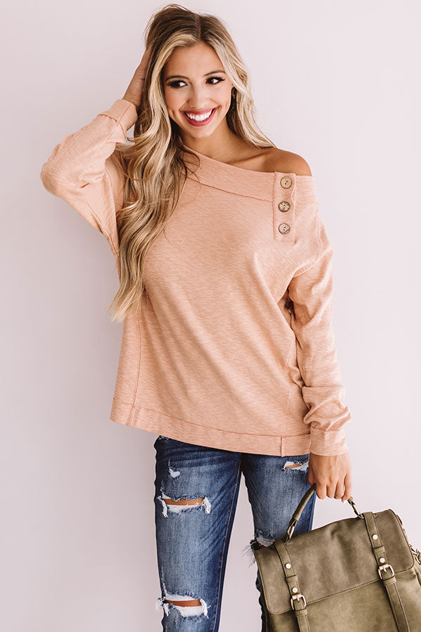 Sweet Confidence Shift Top In Iced Mocha
