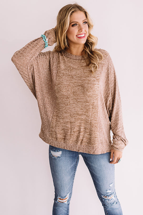 Change In The Air Shift Top In Mocha