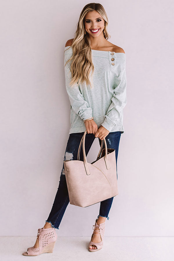 Sweet Confidence Shift Top In Mint