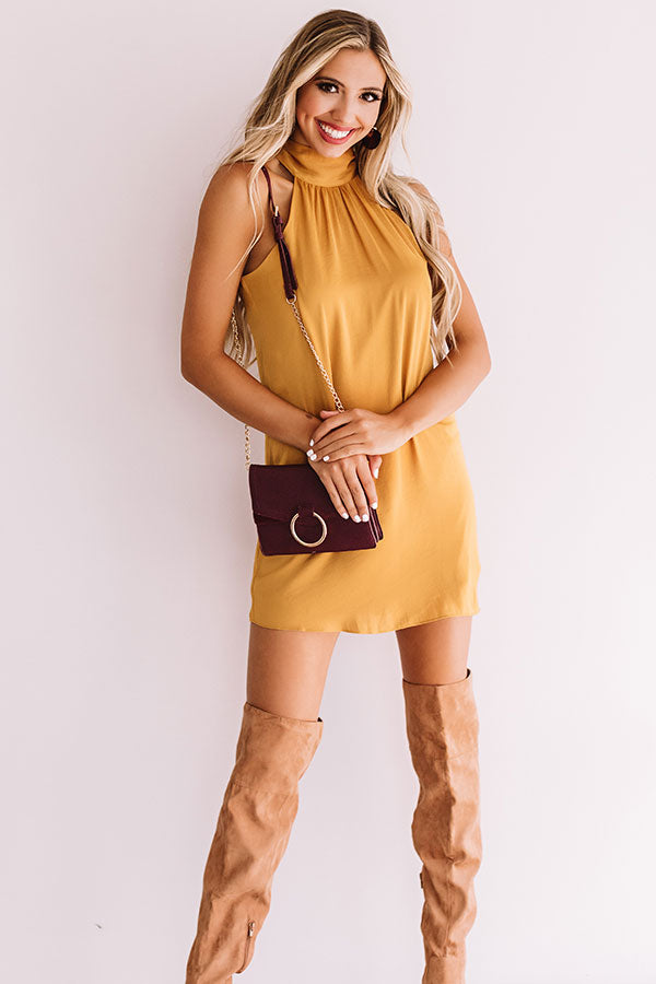 Launch Party Shift Dress In Golden Honey