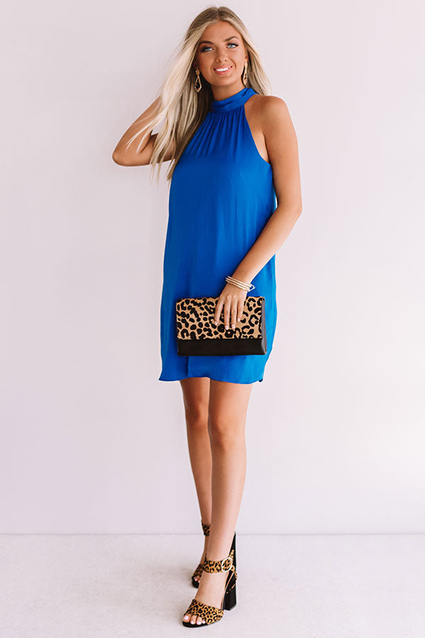 Launch Party Shift Dress In Ocean Blue