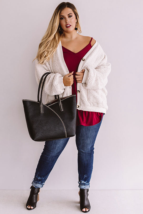 So Dashing Sherpa Cardigan