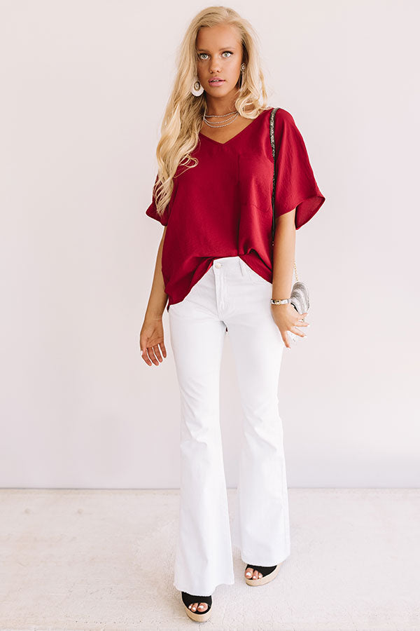 Moroccan Moment Shift Top In Wine