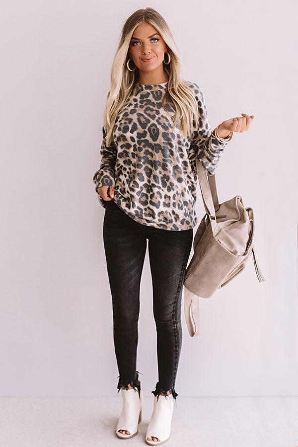 Almost Famous Leopard Sweater
