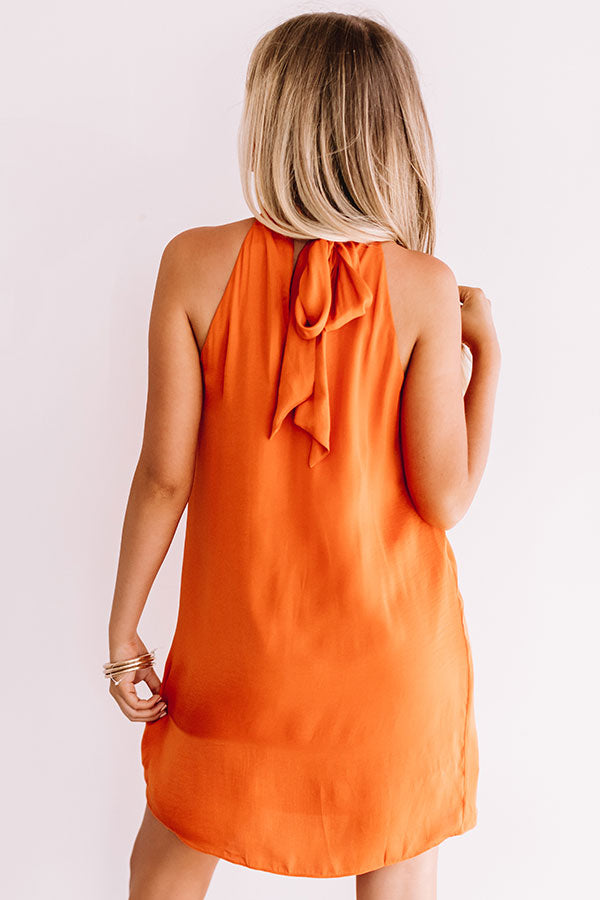 Launch Party Shift Dress In Orange