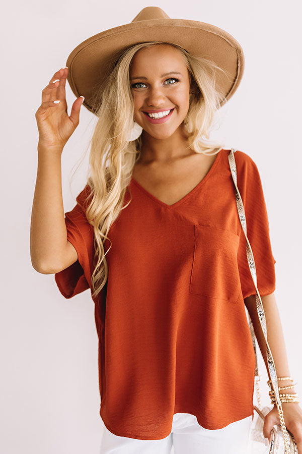 Moroccan Moment Shift Top In Rust