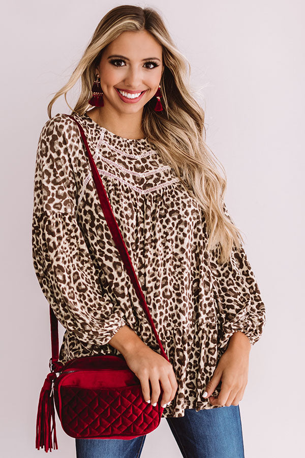 Ultimate Comeback Leopard Shift Top