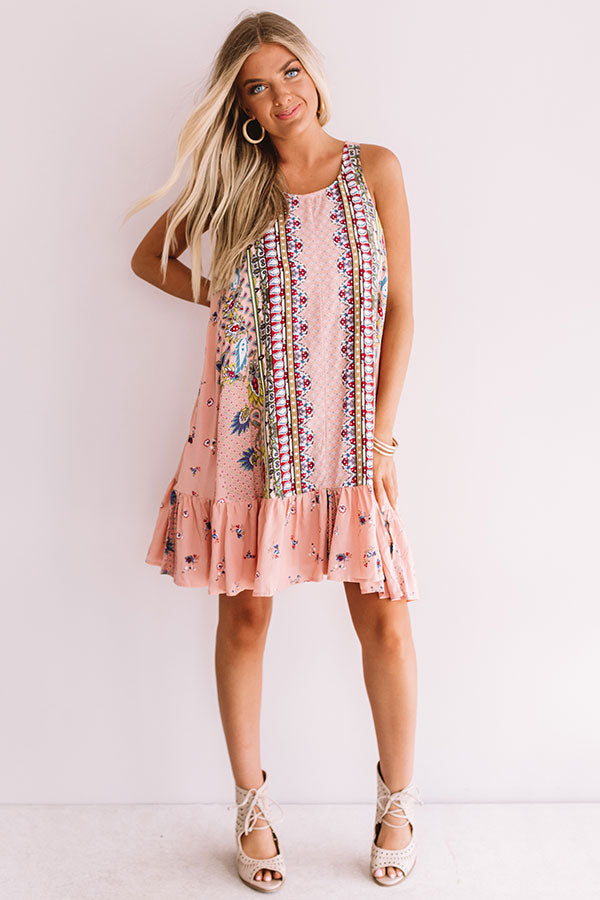 Sunny In Santorini Shift Dress In Pink
