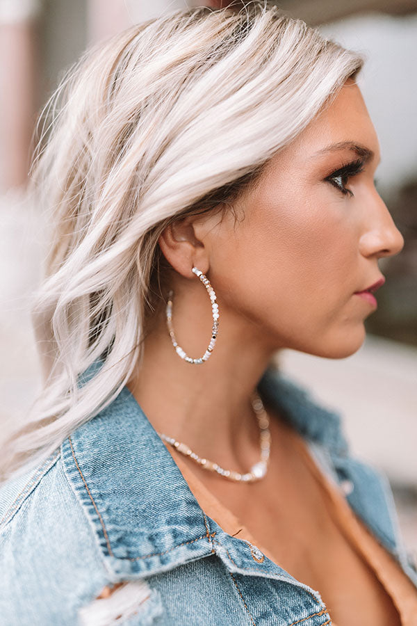 Point Of Perfection Earrings In Grey