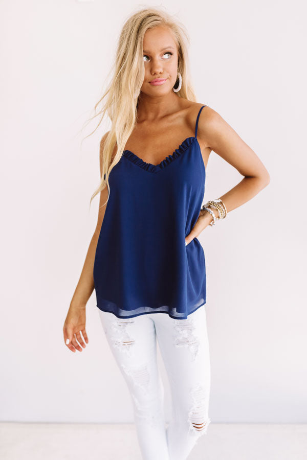 Treasure Island Shift Tank In Navy