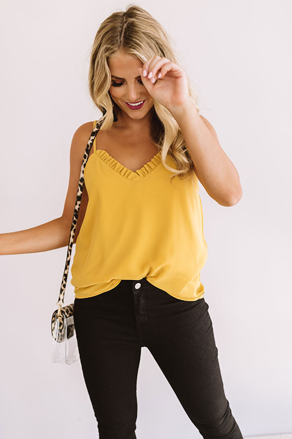 Treasure Island Shift Tank In Yellow