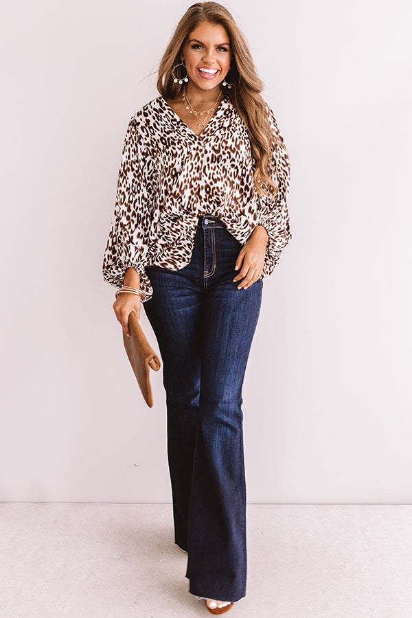 Pretty And Posh Satin Leopard Top