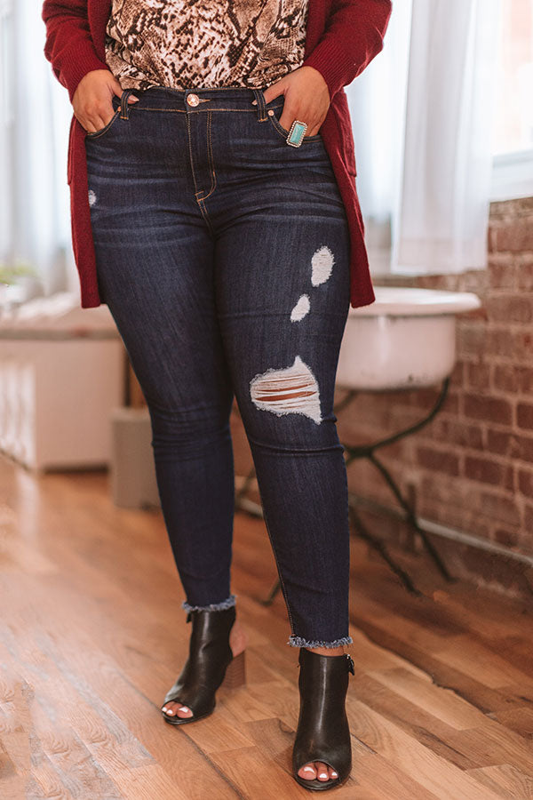 The Cassidy Midrise Distressed Ankle Skinny