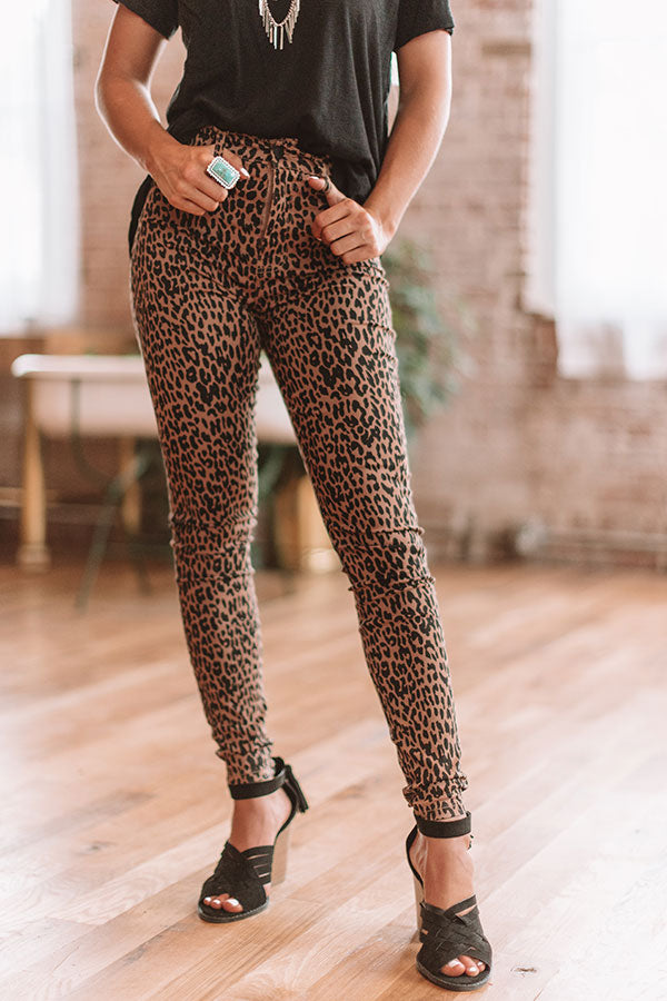 The Lottie High Waist Leopard Skinny