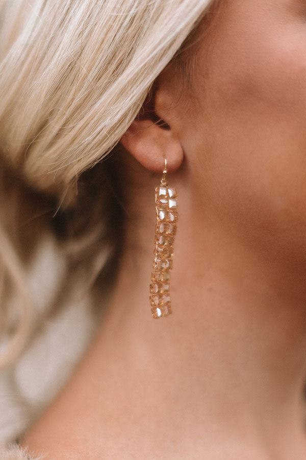 Back to Glam Earrings in Champagne