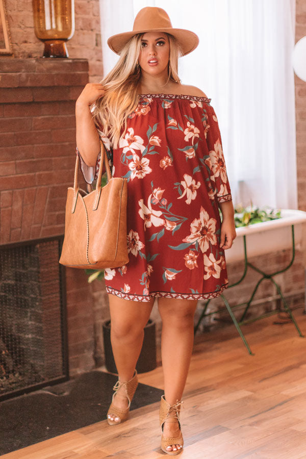 Napa Kisses Floral Shift Dress