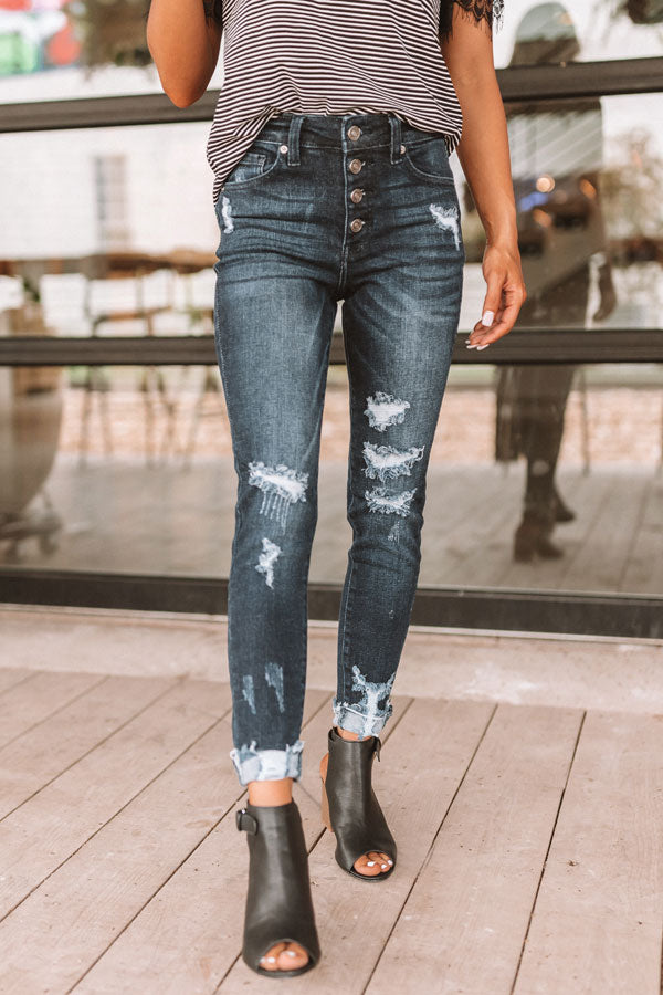 The Darla High Waist Distressed Skinny