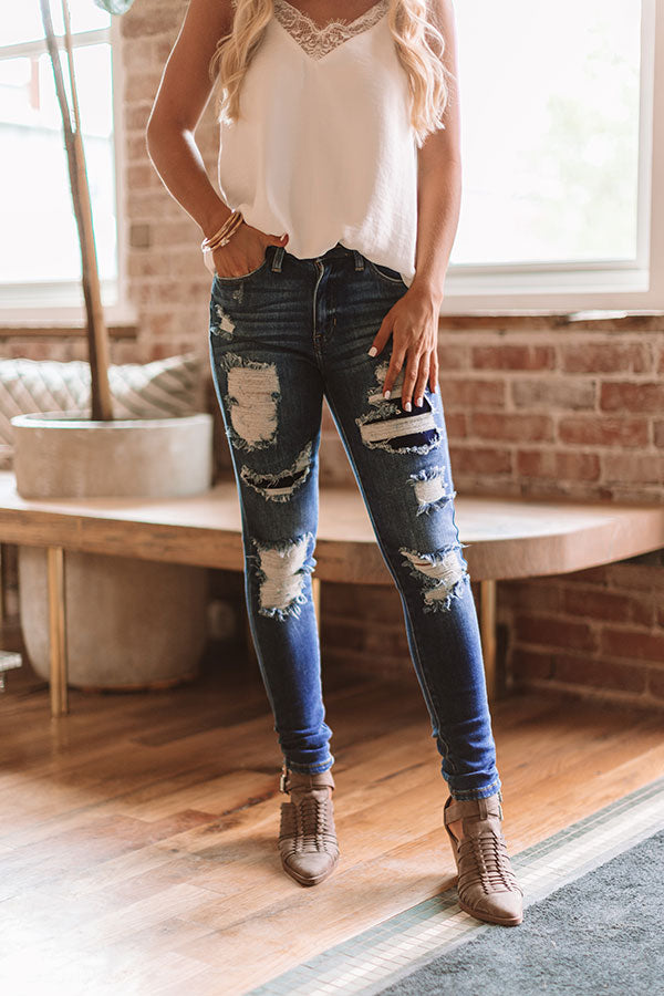 The Trixie High Waist Distressed Skinny