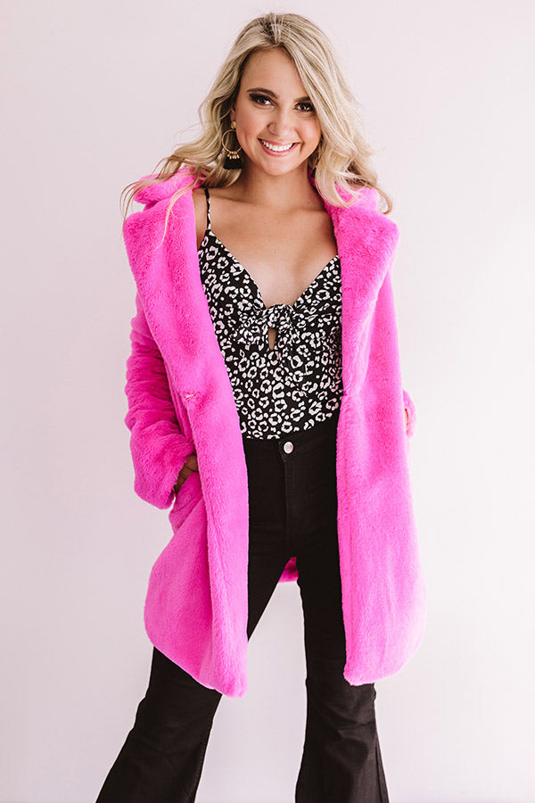 Soft And Cozy Plush Coat