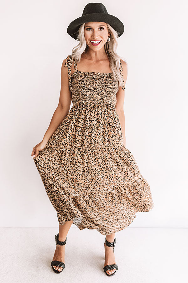 Leopard Perfection Smocked Midi