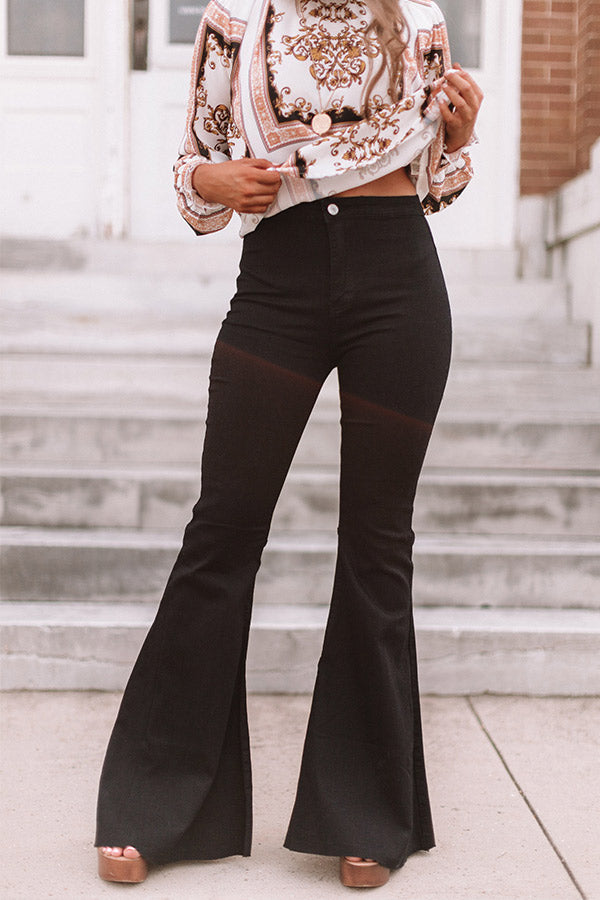 The Harmony High Waist Flare In Black