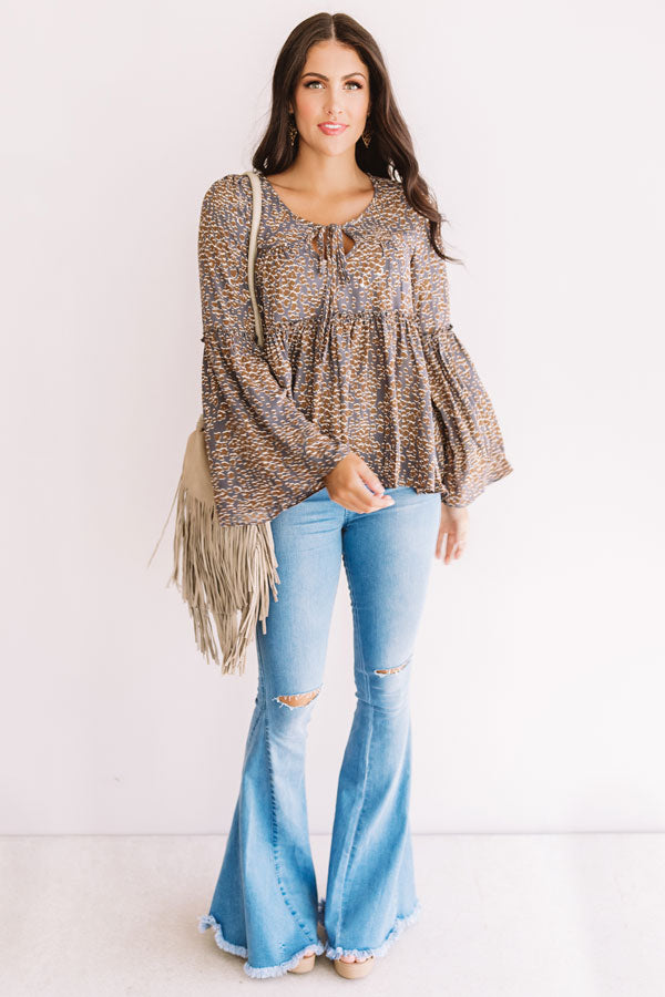 Giddy For Fall Shift Top