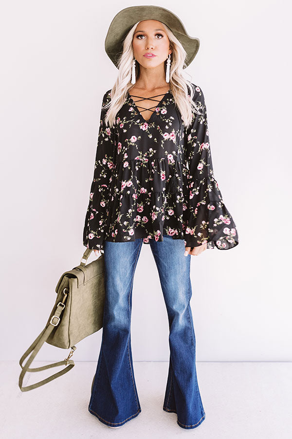 First Class To Sonoma Floral Shift Top