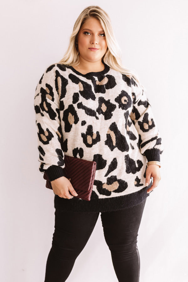 Let's Talk Leopard Sweater