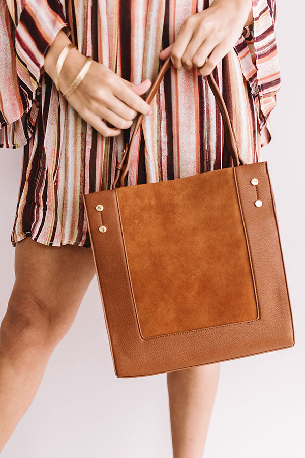 Jetset To Italy Tote in Cinnamon