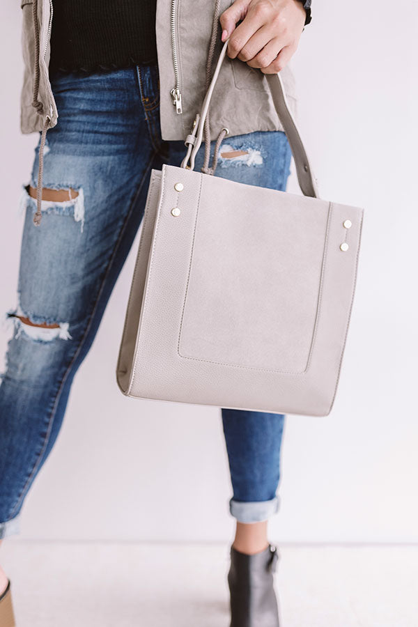 Jetset To Italy Tote in Light Taupe