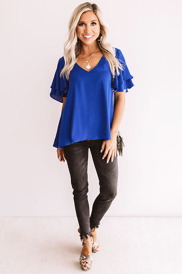 Suite Dreams Shift Top In Royal Blue