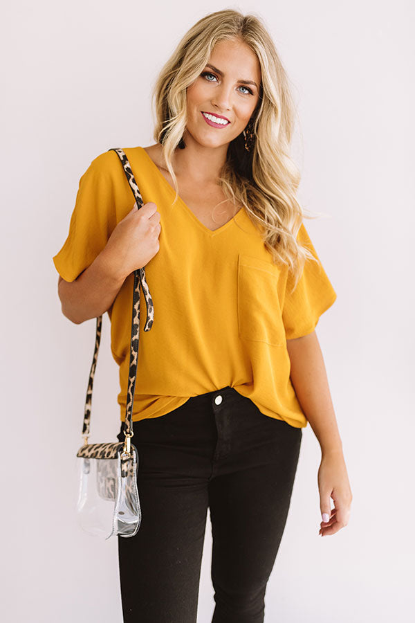 Moroccan Moment Shift Top In Golden Honey