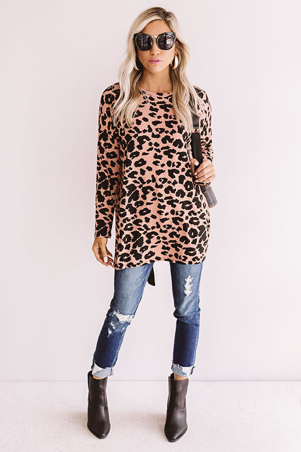 Love Notes Leopard Shift Top