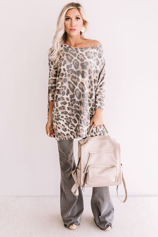Stay Chill Leopard Shift Tunic