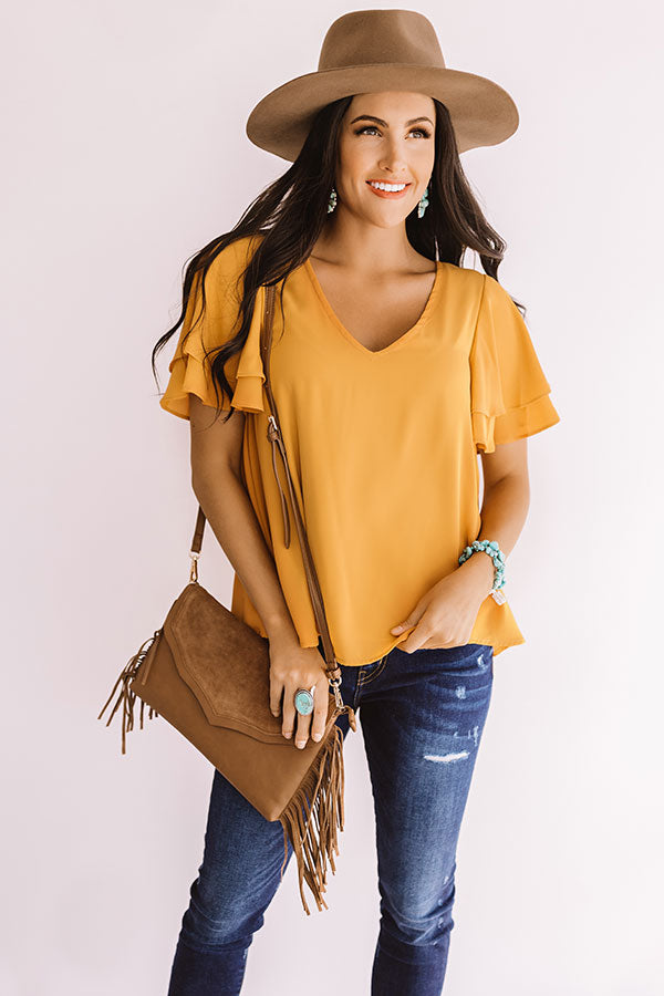 Suite Dreams Shift Top In Golden Honey